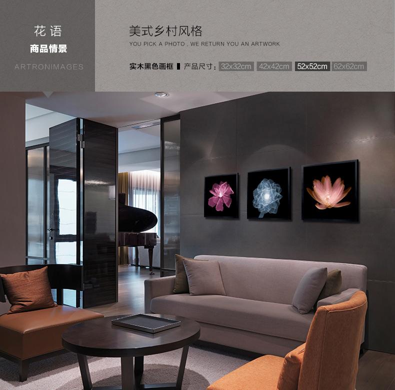 宜家装饰画客厅壁画彩色透视现代极简约挂画餐厅建筑组合墙画沙发背景