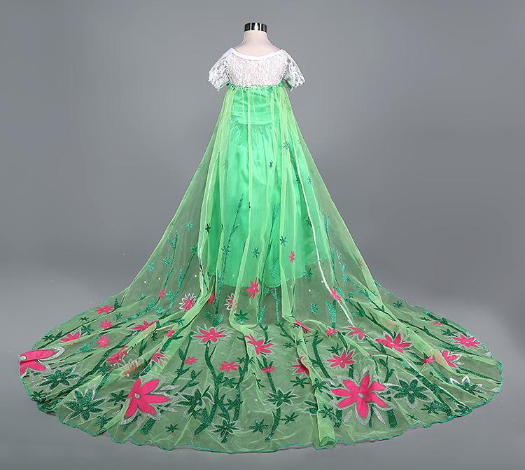 冰雪奇缘公主裙儿童礼服女童连衣裙fz291 c120红色 110cm