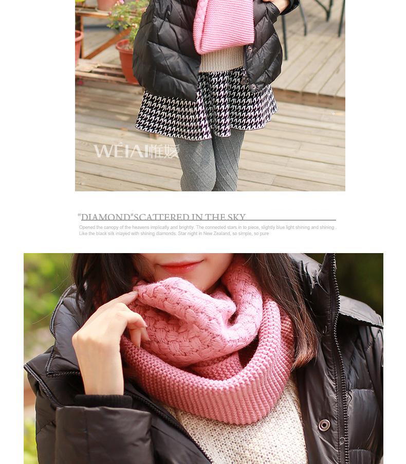 韩版新款毛线围巾套头围脖女冬天脖套韩国秋冬季加厚学生围巾两用