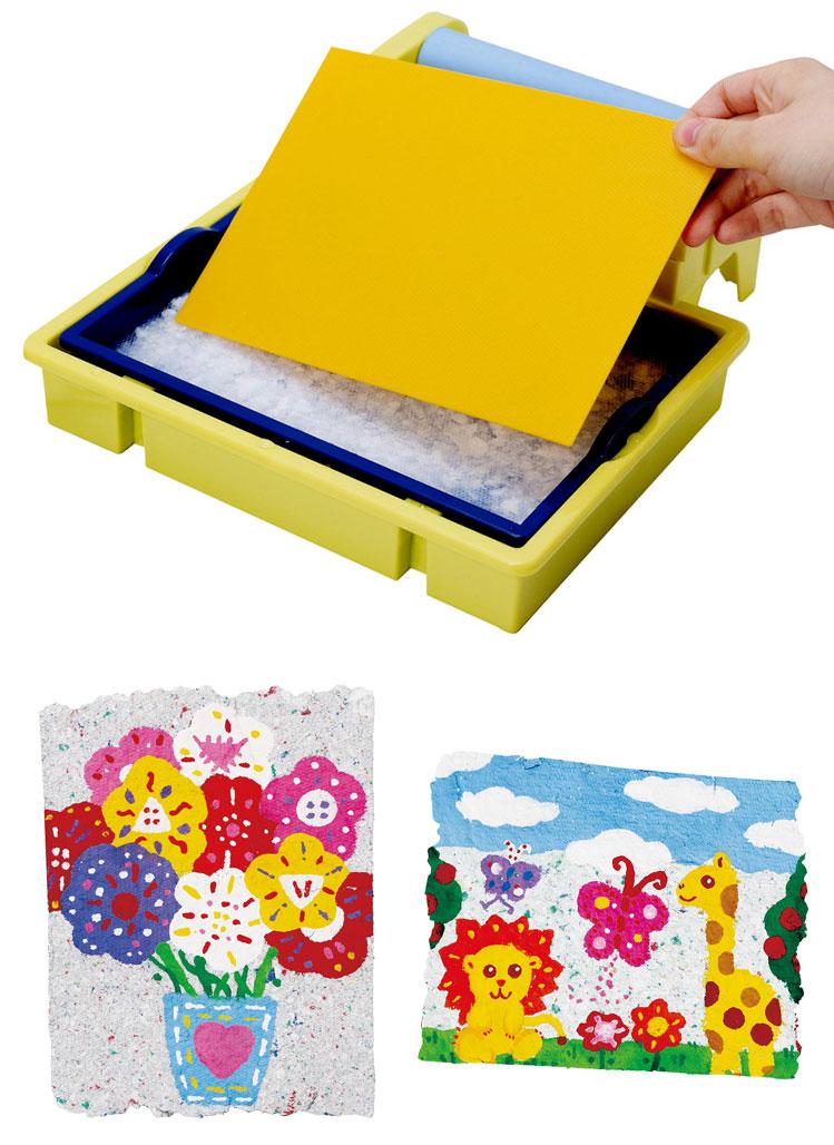 贝乐高(play)儿童造纸机彩纸diy手工制作幼教幼儿园