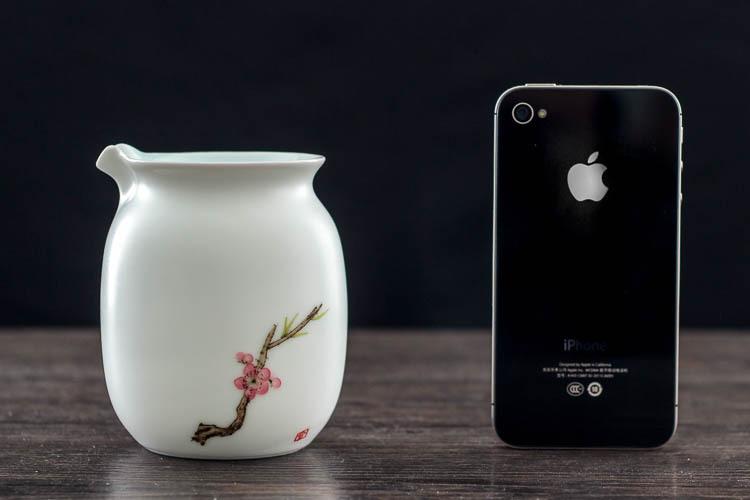 陶瓷公道杯茶海手绘风景手工简单茶具礼品 方然 梅花
