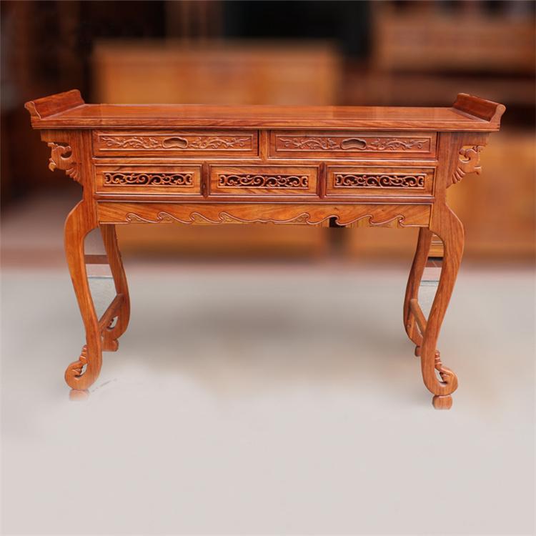 静阁轩 花梨木供台供桌公司开业拜神台 中式实木佛桌