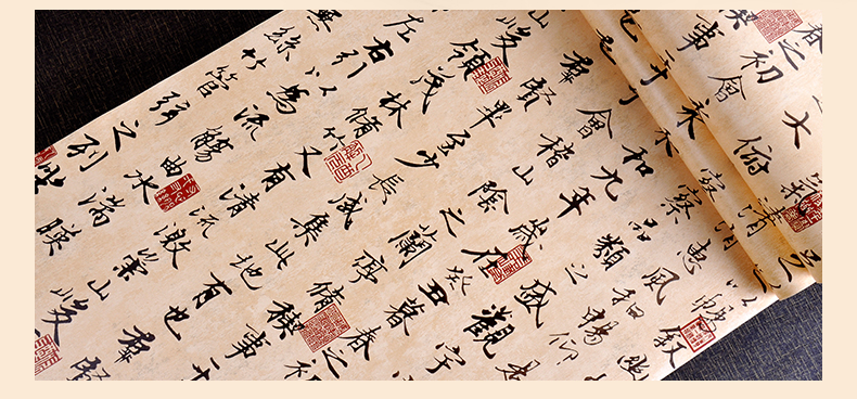 墙地面材料 壁纸 乐活(loho) 乐活壁纸 新古典中式兰亭序书法字画壁纸图片