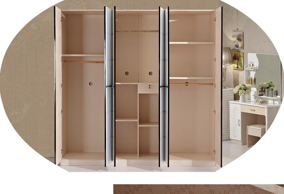 艾尚蜗 衣柜 现代简约推拉门衣柜 白亮光烤漆卧室家具