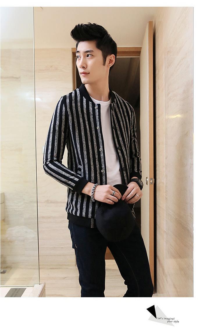 男�9il�l#�+_丹杰仕 韩国新款秋冬短款仔羊绒毛呢外套休闲修身格子
