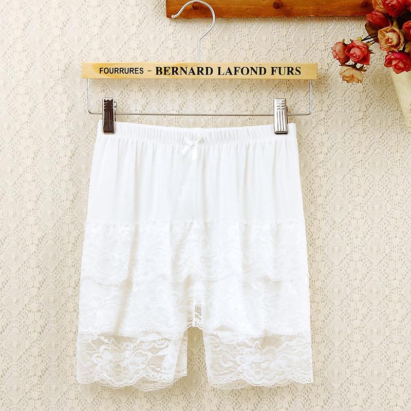 打底裤裙裤   材质成分:冰丝+蕾丝花边