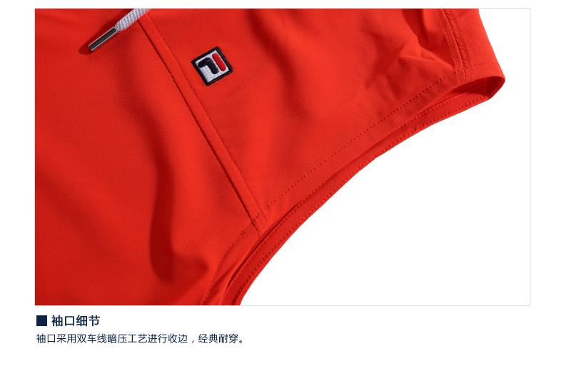 fila斐乐red系列女多口袋设计时尚宽领连衣裙|26524201 深桔红色-or s图片