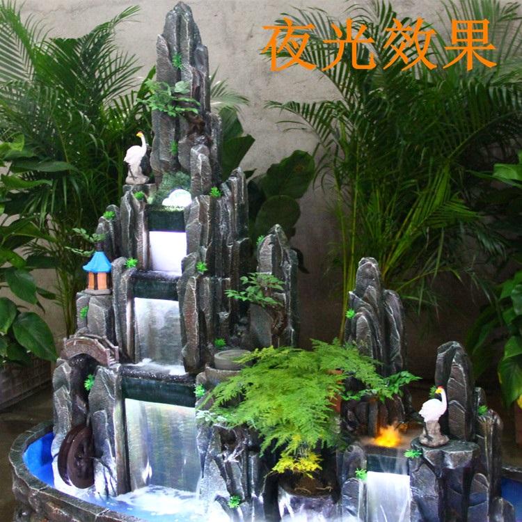 影享大欧式喷泉流水假山风水轮落地摆件鱼池盆景客厅图片