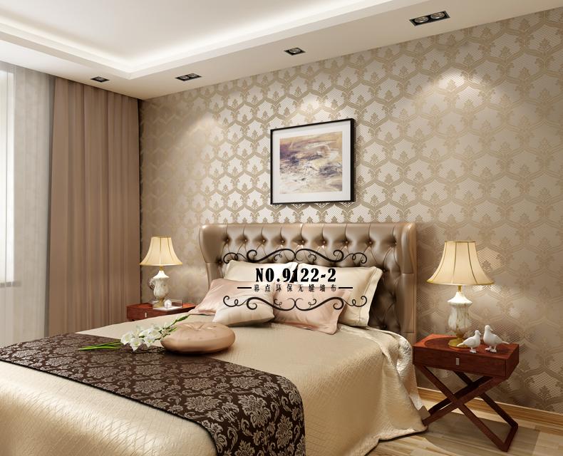 幕点无缝墙布 简约欧式卧室客厅款 现代欧式简欧环保无缝壁布 全国可图片