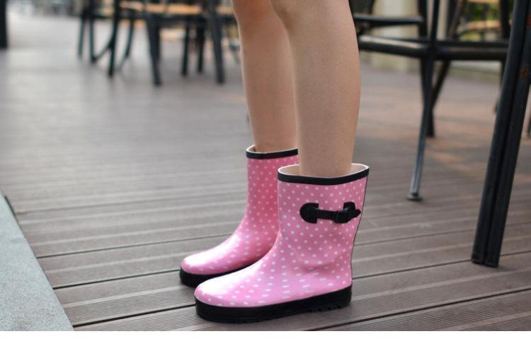 女水鞋_2016新款韩版时尚中筒雨鞋女雨靴女水鞋胶鞋套鞋胶鞋女女士防水靴