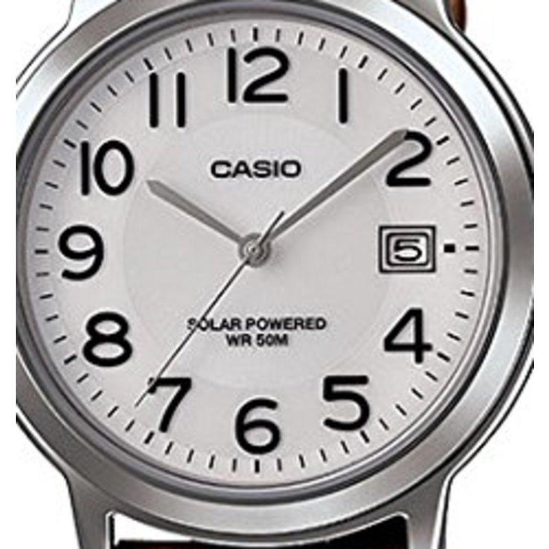 全球购卡西欧(casio)中性光动能皮带白表盘日期防水mtp-s100l-7b2vcf图片