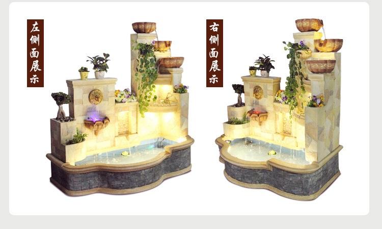 影享大型欧式喷泉流水庭院酒店别墅花园落地水景观轮