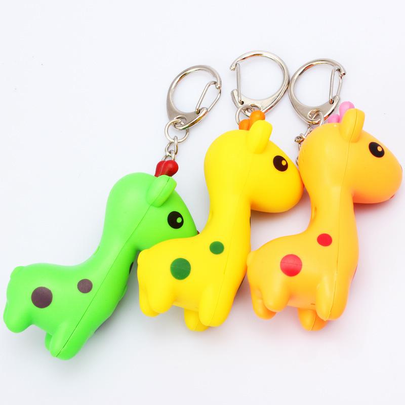 长颈鹿钥匙扣led小动物钥匙挂件创意礼品