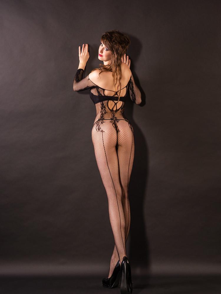 美国selebritee进口高档情趣内衣性感蕾丝露乳镂空开