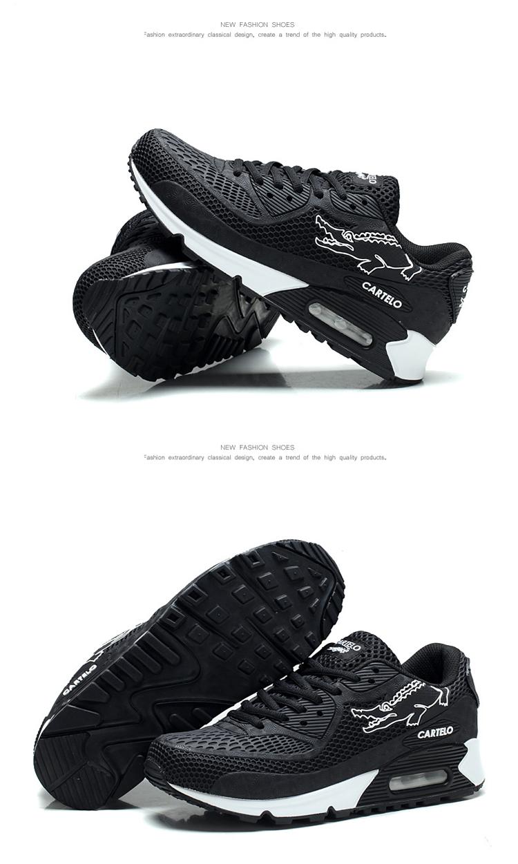 卡帝乐鳄鱼运动鞋 休闲鞋跑步鞋新款男士轻便气垫鞋增高鞋 网面户外