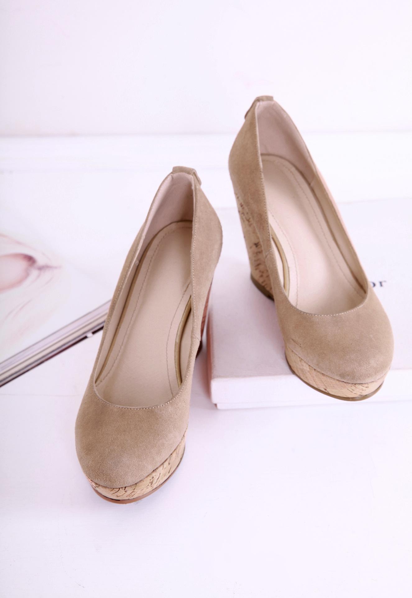 坡跟单鞋欧美