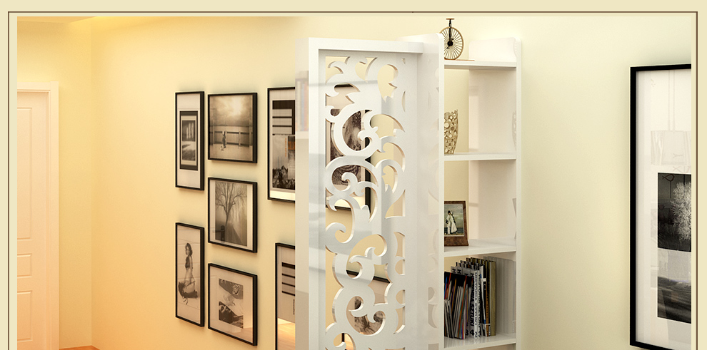 威名木业 现代简约书架客厅隔断置物架花架时尚玄关屏风 e02 900mm宽图片