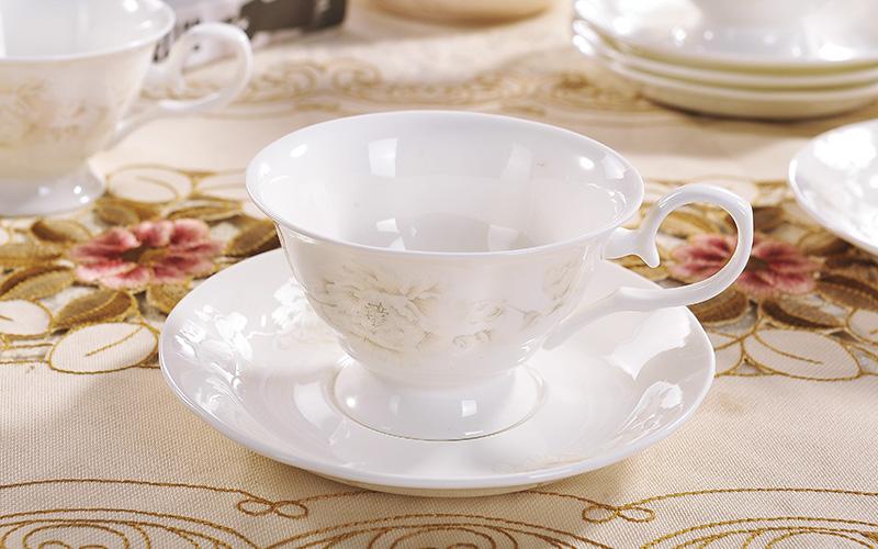 15件套欧式咖啡杯茶具套装 英式茶杯爱丽丝 白色