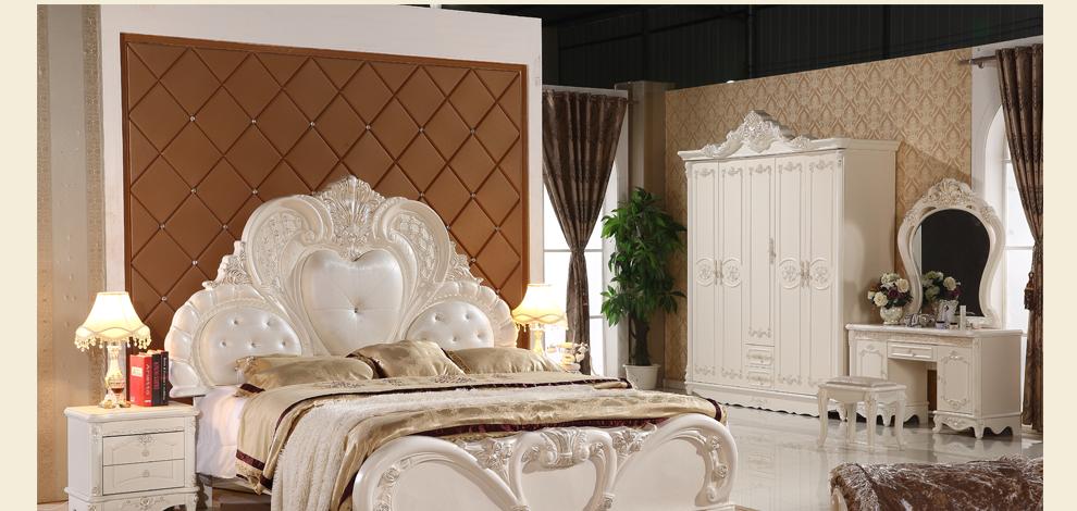 套装组合六件套卧室家具套装组合欧式套房床