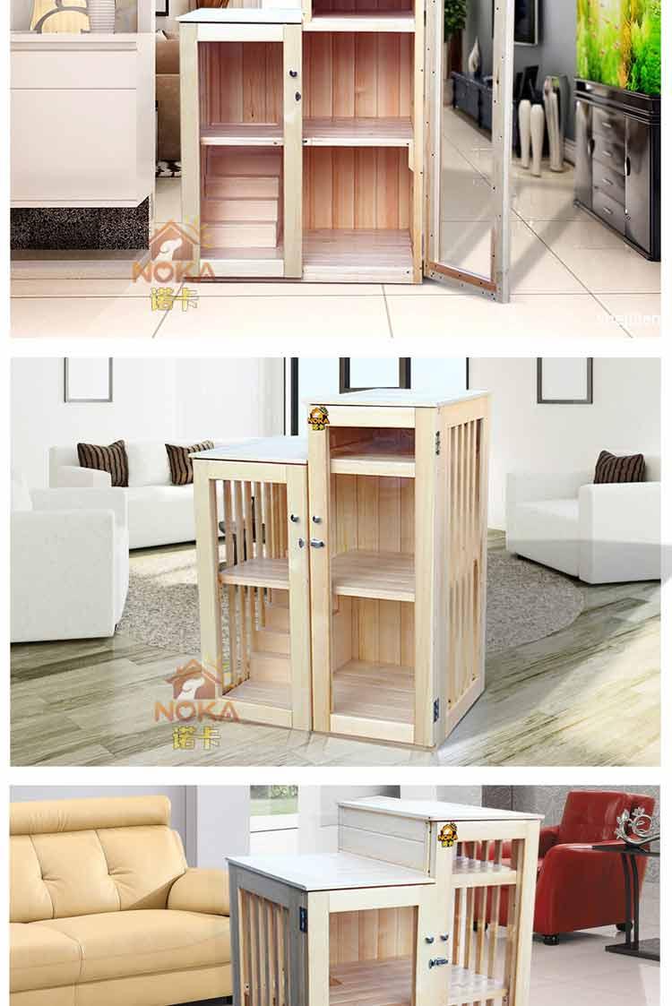 诺卡双层三层猫屋实木猫窝碳化木质猫房子室内外猫爬架笼猫屋别墅