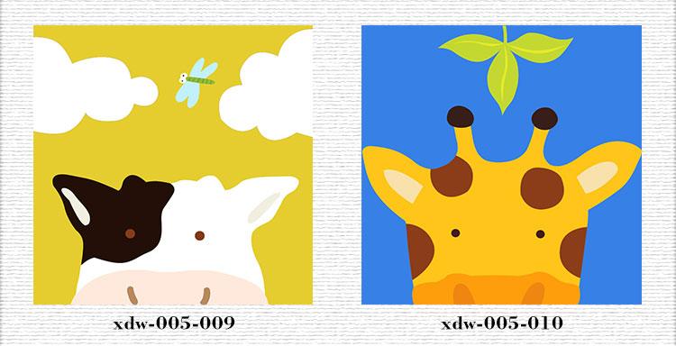 映色艺术 小清新装饰画幼儿园卡通儿童房有框画卧室挂图片图片