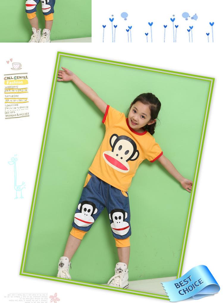 儿童套装男女童装新款2016夏季小学生班服幼儿园夏装儿童校服运动套装