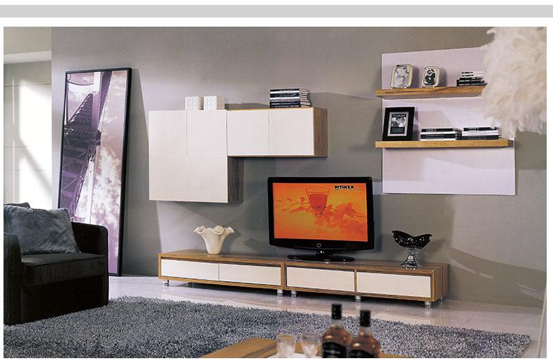 雅术 简约现代 电视柜 墙柜 组合柜 电视墙柜 d款组合图片