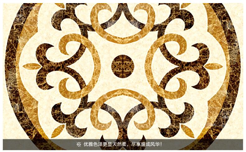 健唯瓷砖 欧式地砖拼花 拼图客厅 电梯玄关过道地毯砖图片