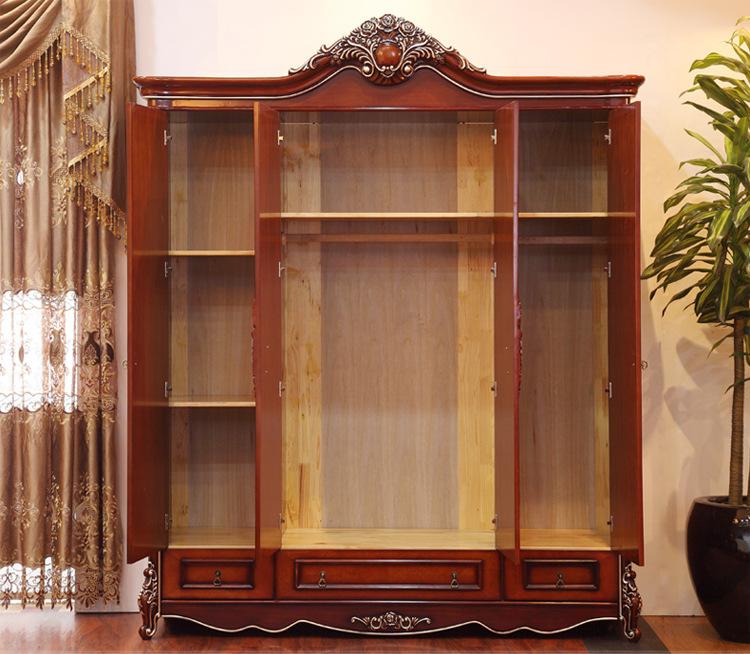 法丽姿卧室家具 欧式古典实木衣柜 欧式衣柜 四门衣柜