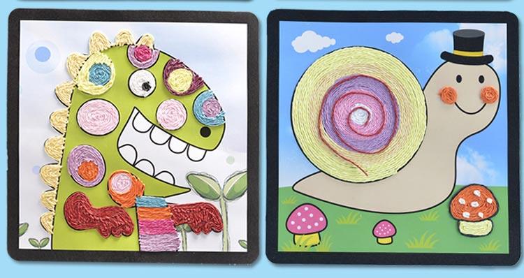 幼儿手工卡纸粘贴画