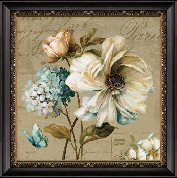 聚美优画 美式装饰画客厅现代时尚壁画沙发背景墙画花卉有框画进口画图片
