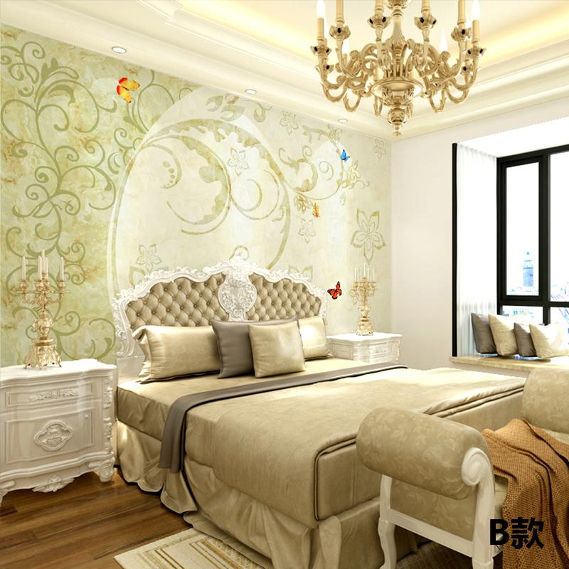 尤蔓现代简约欧式花纹墙纸壁画简欧装修客厅沙发电视背景墙壁纸影视墙图片