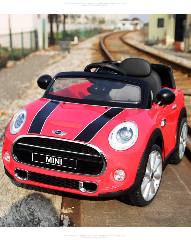 kids original bmw licensed rc mini cooper ride on car remote control toy ebay. Black Bedroom Furniture Sets. Home Design Ideas