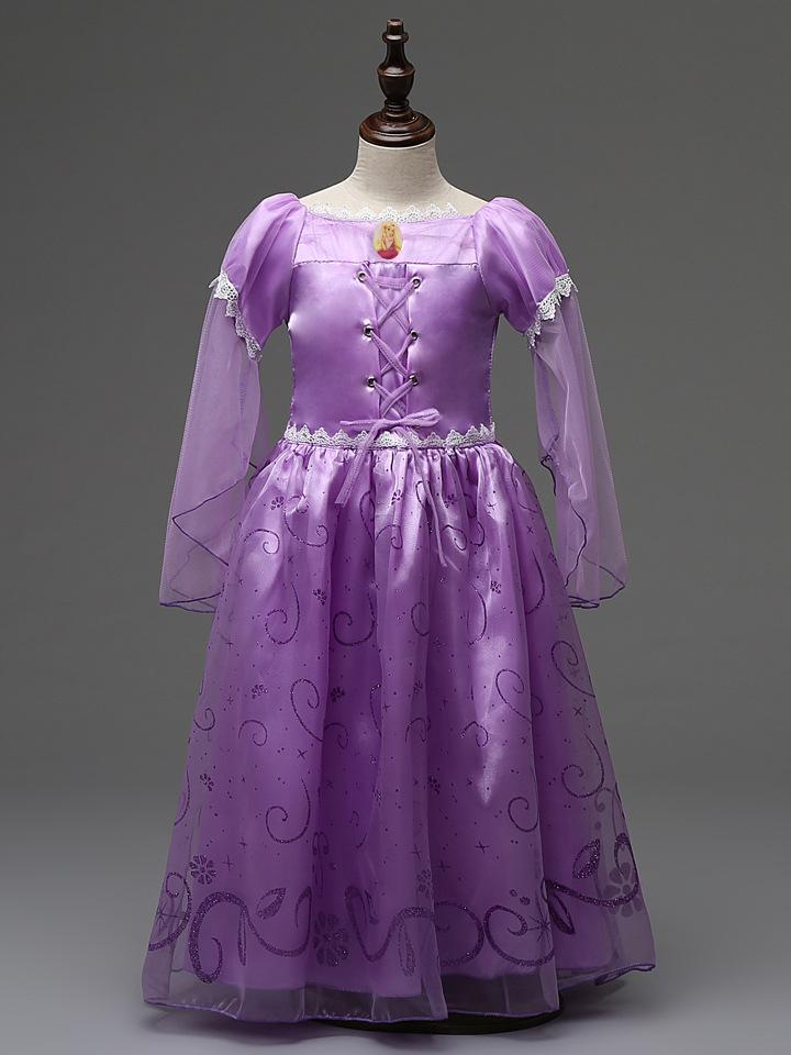 珂莱堡蒂外贸童装冰雪奇缘女童裙 索菲亚公主紫色梦幻