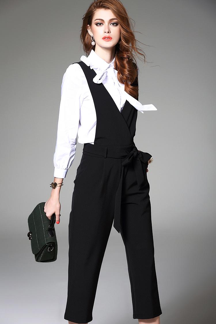 套装背带裤女2017夏装新款时尚