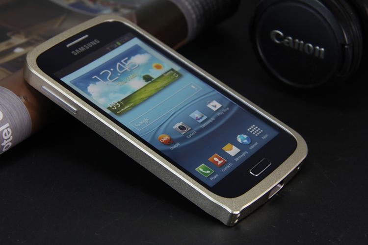 > yjing 金属边框手机壳保护套 适用于三星i8262d/i8268/电信版i829