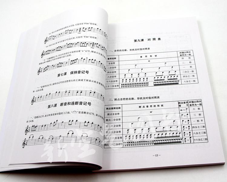 萨克斯初级教程 自学萨克斯乐谱初学入门练习曲谱 初级萨克斯基础自学