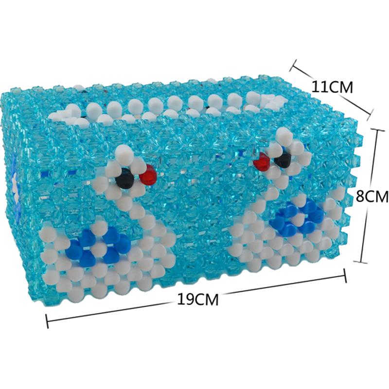 秀宛立体绣正品diy手工串珠纸巾盒透明纸巾盒材料包