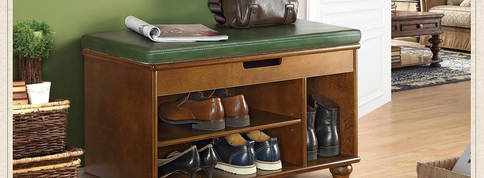 美式简约换鞋凳鞋柜时尚穿鞋凳子长凳鞋柜换