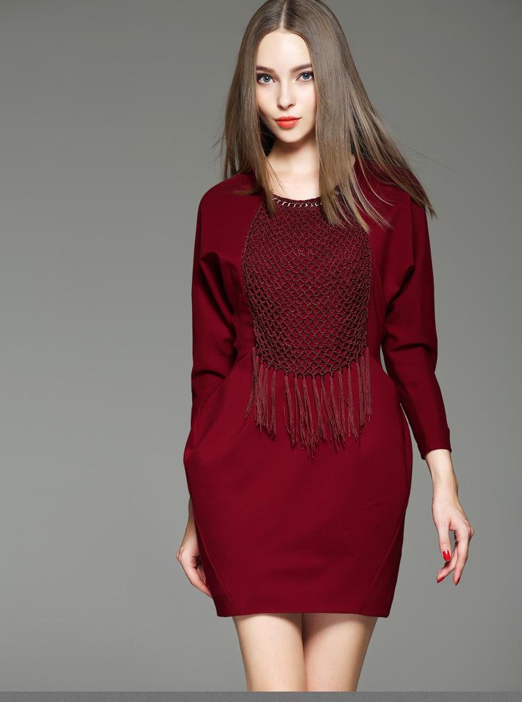 连衣裙修身显瘦