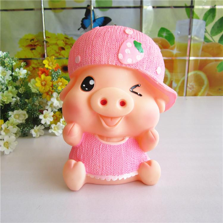 大号儿童储蓄罐 创意可爱麦兜猪猪存钱罐卡通猪 时尚摆件礼品礼物