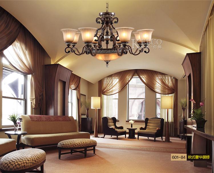 可洛欧式吊灯 美式客厅大堂仿古灯具图片