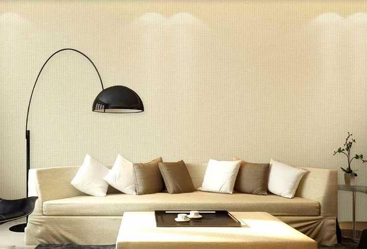 无纺布欧式纯色壁纸客厅卧室电视背景无纺布墙纸