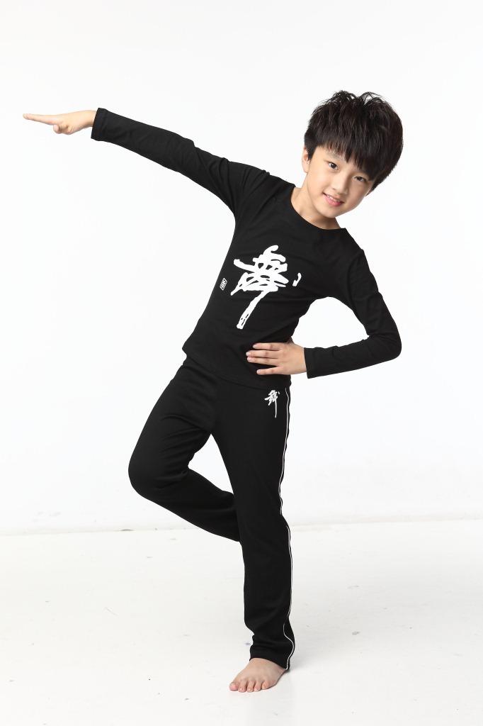 时尚休闲家居服饰男童拉丁舞儿童练功服纯棉少儿考级服儿童舞蹈服炫酷图片