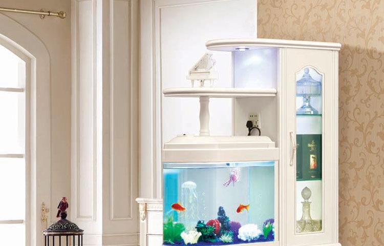 紫茉莉客厅欧式田园间厅柜玄关柜隔断柜双面鞋柜带鱼缸装饰门厅酒柜