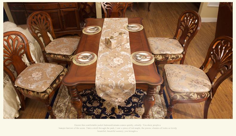 康丝丽欧式椅垫高档餐椅坐垫 奢华布艺加厚雪尼尔餐厅图片