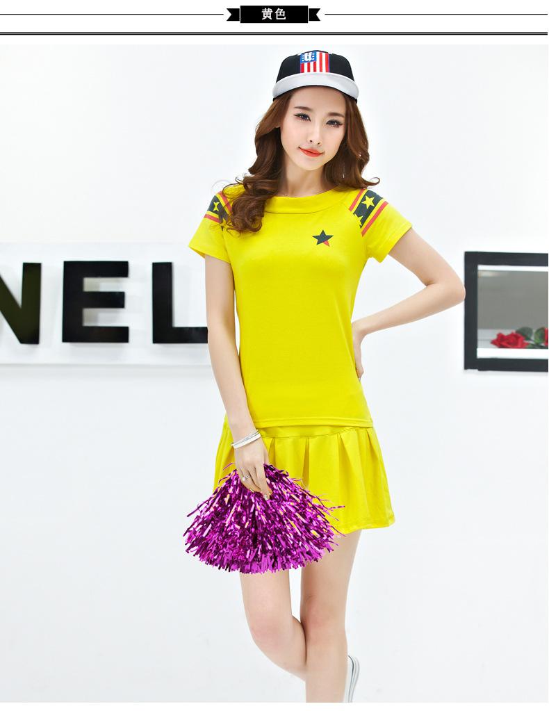 沐欣店韩版啦啦操服装拉拉队表演 舞蹈服装男女中学生图片