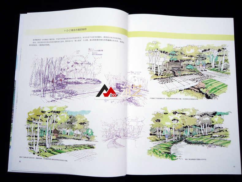 户田芳树风景计画手绘作品实录 透视图与实景图对照 (日)吉泽 力编 图
