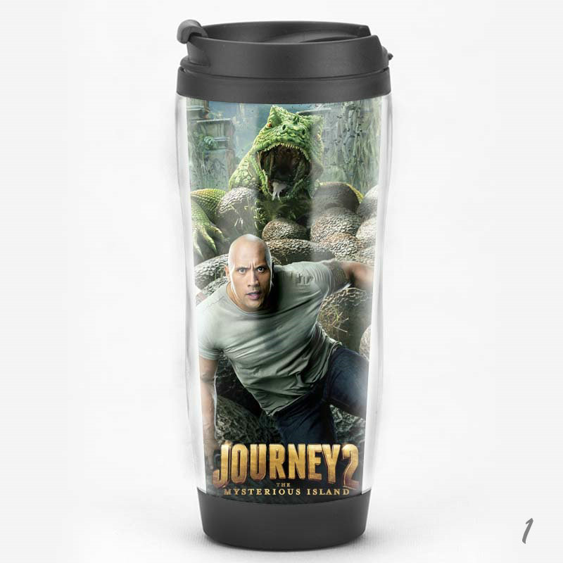 腾彩电影院 地心历险记2神秘岛道恩强森周边纪念品礼品水杯子j1 图案2图片