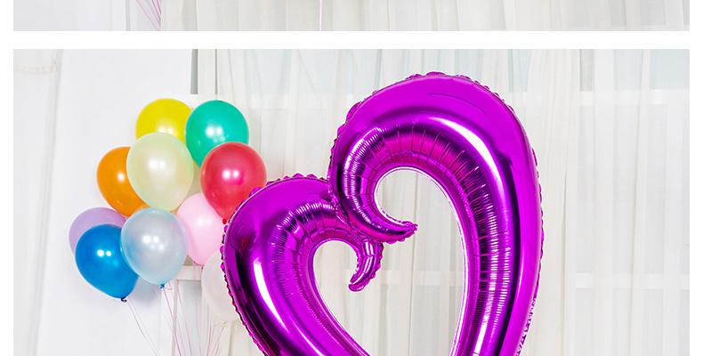 靓霜凝 42寸超大空心爱心铝箔气球勾勾心形铝膜气球 结婚庆婚房布置
